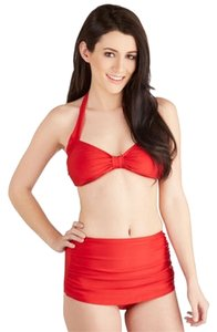 Modcloth Bathing Beauty Two Piece Swimsuit in Red