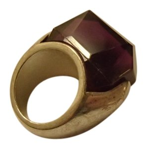 Banana Republic Chunky Silver and Purple Stone Ring