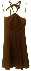 J.Crew short dress brown Halter on Tradesy
