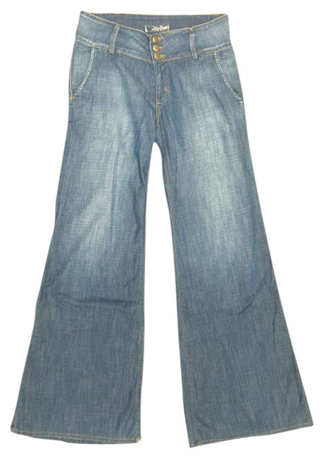 Hudson Trouser/Wide Leg Jeans-Medium Wash