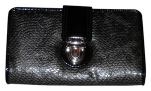 Apt. 9 Apt 9 Clutch Wallet Gray Black Python Print Faux Leather New