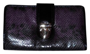 Apt. 9 Apt 9 Clutch Wallet Purple Black Python Print Faux Leather New