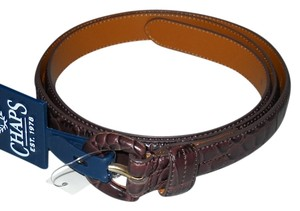 Chaps Chaps Brown Purple Faux Leather Belt Size XL New