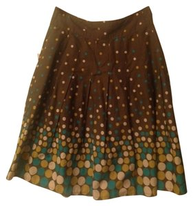 Dimri Dot Skirt Brown with polka dots