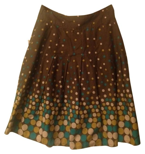 Item - Brown with Polka Dots Skirt Size 8 (M, 29, 30)