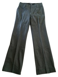 Banana Republic Wool Cuffed Wide Trouser Pants Gray
