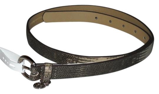 Relic Relic Gray White Python Faux Leather Belt Size M New