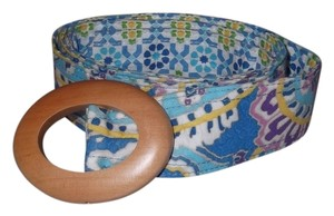 Vera Bradley Vera Bradley Capri Blue Belt Retired Pattern One Size