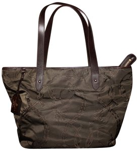 Ralph Lauren Canvas Satin Tote in Brown