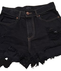 Brandy Melville Cut Off Shorts Dark denim blue