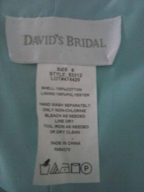 Item - Pool Blue Cotton Sateen 83312 Casual Bridesmaid/Mob Dress Size 6 (S)