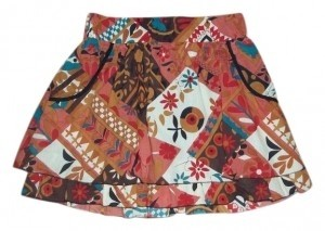 Daytrip Mini Skirt GREAT 70'S COLORS AND PATTERN