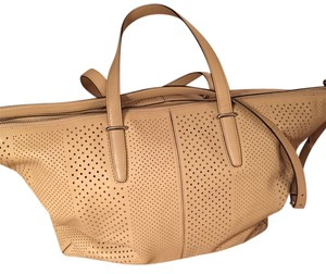 Coach Leather Perforated Shoulder Bag