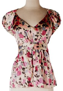 Cynthia Rowley Silk Top Multicolor Floral
