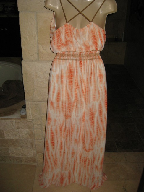 Orange tie dye Maxi Dress by Liquid New York