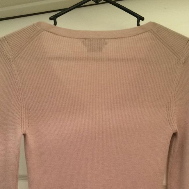 Tom Ford Knit Longsleeve Designer Nude Blush Silk Wool Soft Quality Italy Italian Style Fashion Vneck V Neck V-neck Gucci Sweater
