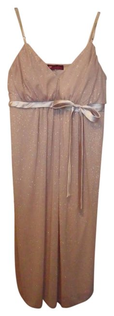 Item - Gold Homecoming Sparkle Above Knee Formal Dress Size 10 (M)