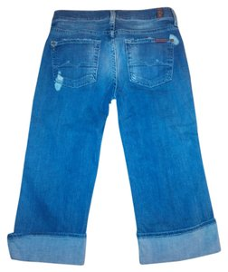 7 For All Mankind Boyfriend Cut Jeans-Distressed