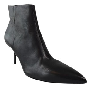 Burberry Manor Leather Heel Black Boots