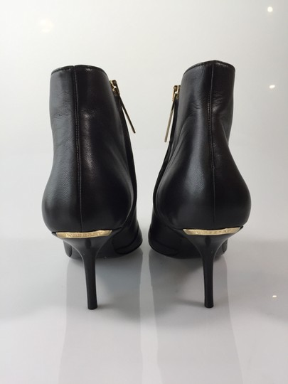 Burberry Manor Leather Heel Ankle Black Boots