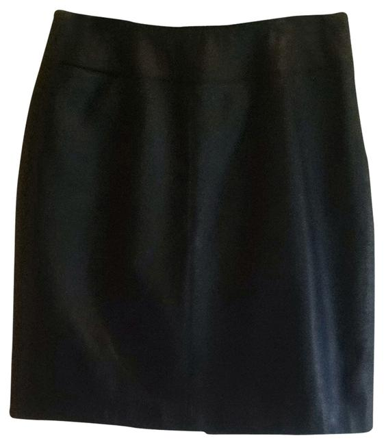 Lord & Taylor Leather Mini Skirt black