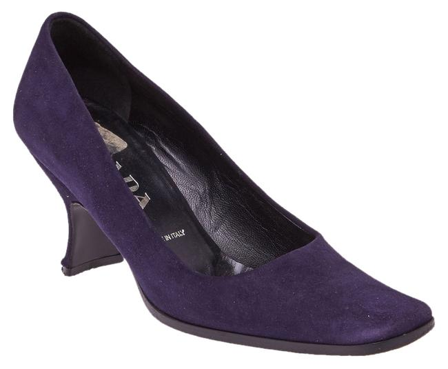 Prada Plum Suede (41838) Pumps Size US 5 Regular (M, B) Prada Plum Suede (41838) Pumps Size US 5 Regular (M, B) Image 1