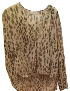 WAYF Top Cheetah Print