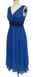 Royal Blue Blue Goddess Beaded Waist Size:2x Dress Dress