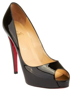 Christian Louboutin Very Prive 120 Patent Leather Black Pumps