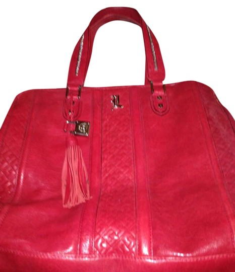 Preload https://item5.tradesy.com/images/lamb-couture-collection-red-leather-tote-300009-0-0.jpg?width=440&height=440