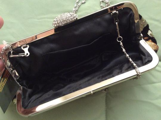 Sasha Evening Evening Metallic Black, silver, taupe sequins Clutch