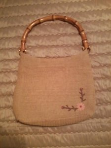 Other Bamboo Burlap Straw Shoulder Bag