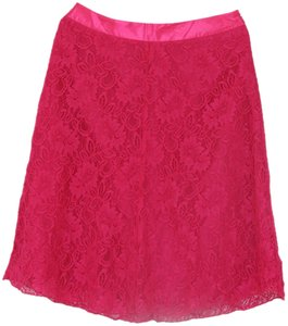 Versona A-line Knee-length Skirt Hot Pink