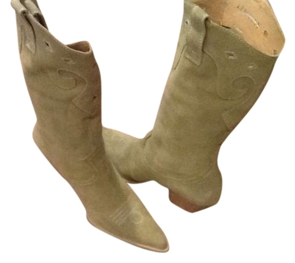 Luichiny Sage Green Chic Western Boots/Booties Flair Boots/Booties Western 65f3f6
