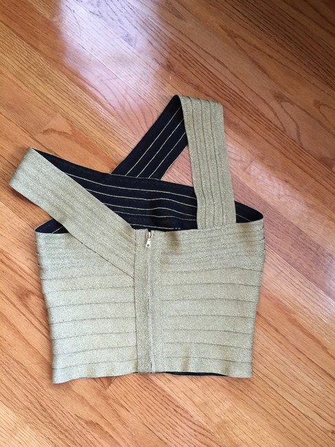 Herve Leger Couture Top Gold