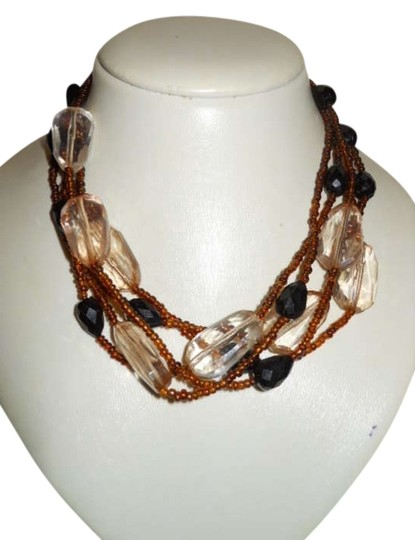 Preload https://img-static.tradesy.com/item/300079/brown-black-and-clear-necklace-0-0-540-540.jpg