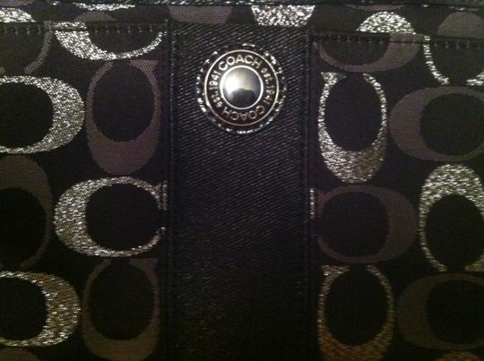 Coach Wristlet in Black and Silver