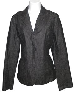 Kenneth Cole Cotton Machine Washable Black Blazer