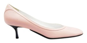 St. John New Leather Kitten Heel Pink Pumps