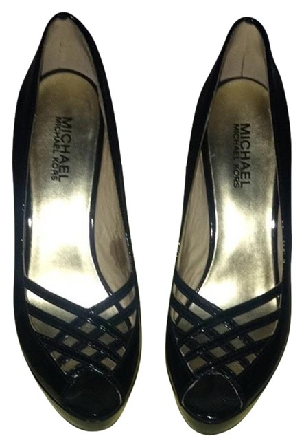 Michael Kors Black Patent Lana Platform Pumps Size US 7.5 Regular (M, B) Michael Kors Black Patent Lana Platform Pumps Size US 7.5 Regular (M, B) Image 1