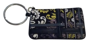 Vera Bradley Wristlet in Black, Grey, White, Yellow/green