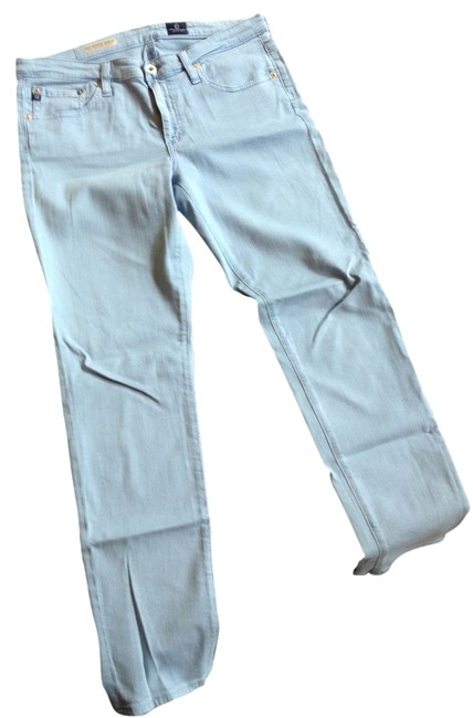 AG Adriano Goldschmied Ankle Stevie Denim Straight Leg Jeans-Light Wash