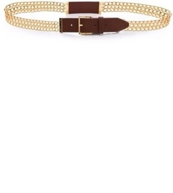 Tory Burch Gold Leather Plaque Chain Size M Belt Tory Burch Gold Leather Plaque Chain Size M Belt Image 2