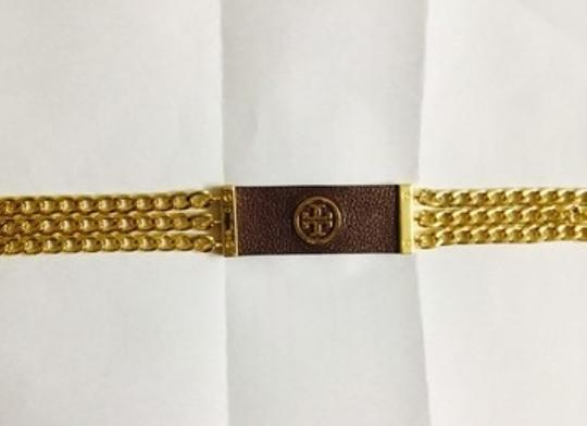 Tory Burch NWT Tory Burch Leather Plaque Chain Belt Size M