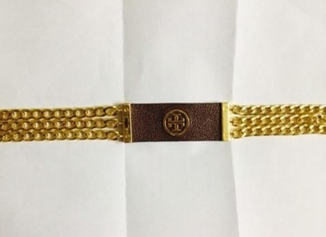 Tory Burch Gold Leather Plaque Chain Size M Belt Tory Burch Gold Leather Plaque Chain Size M Belt Image 5