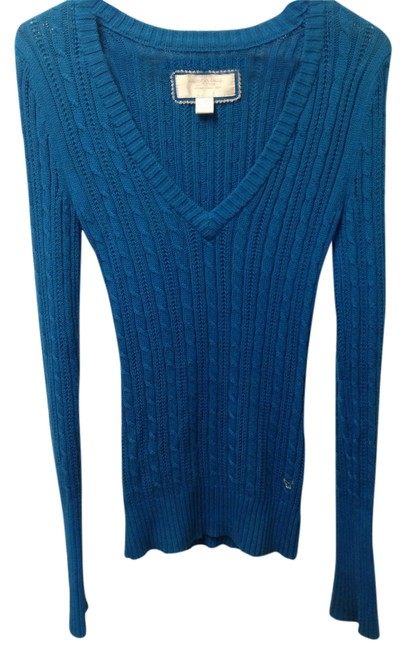 American Eagle Outfitters Cable-knit V-neck Knit Sweater