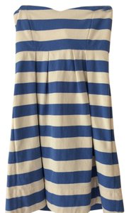 J.Crew short dress Blue and White Stripes on Tradesy