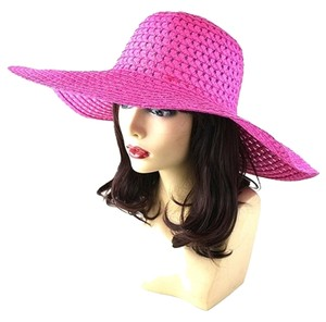 Other FASHIONISTA Fuchsia Pink Beach Sun Cruise Summer Large Floppy Hat