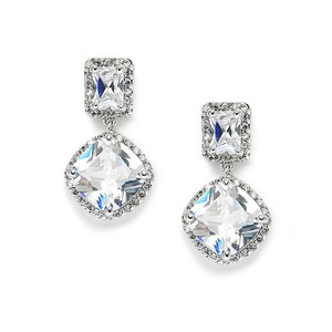 Mariell Stunning Faux Diamonds Cz Wedding Earrings 3607e