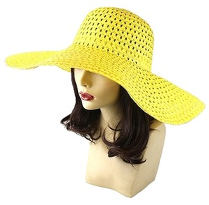 Other FASHIONISTA Yellow Beach Sun Cruise Summer Large Floppy Dressy Hat Cap